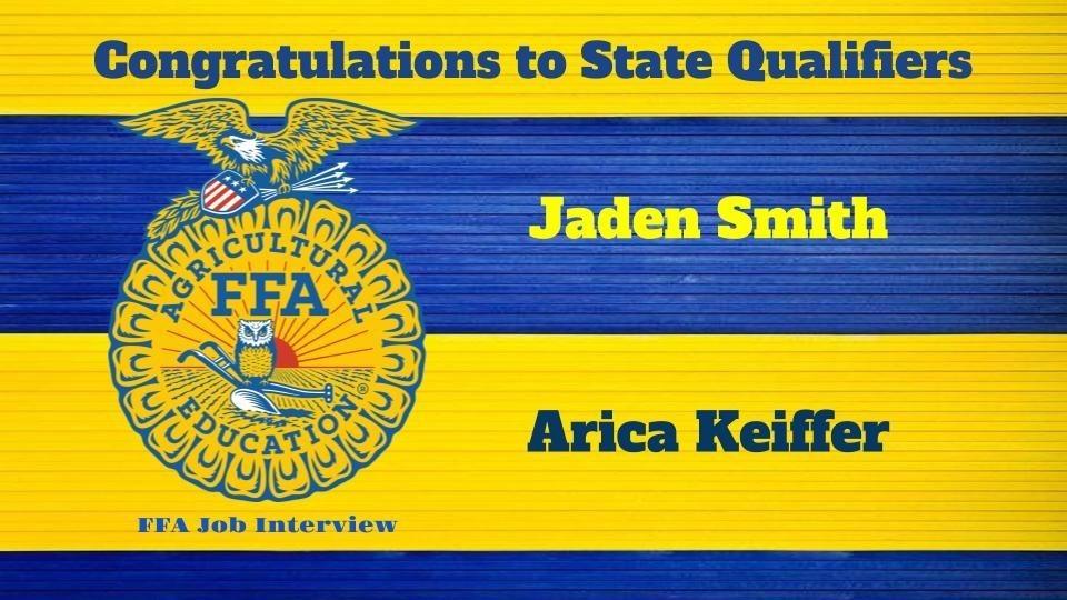 FFA State Qualifiers
